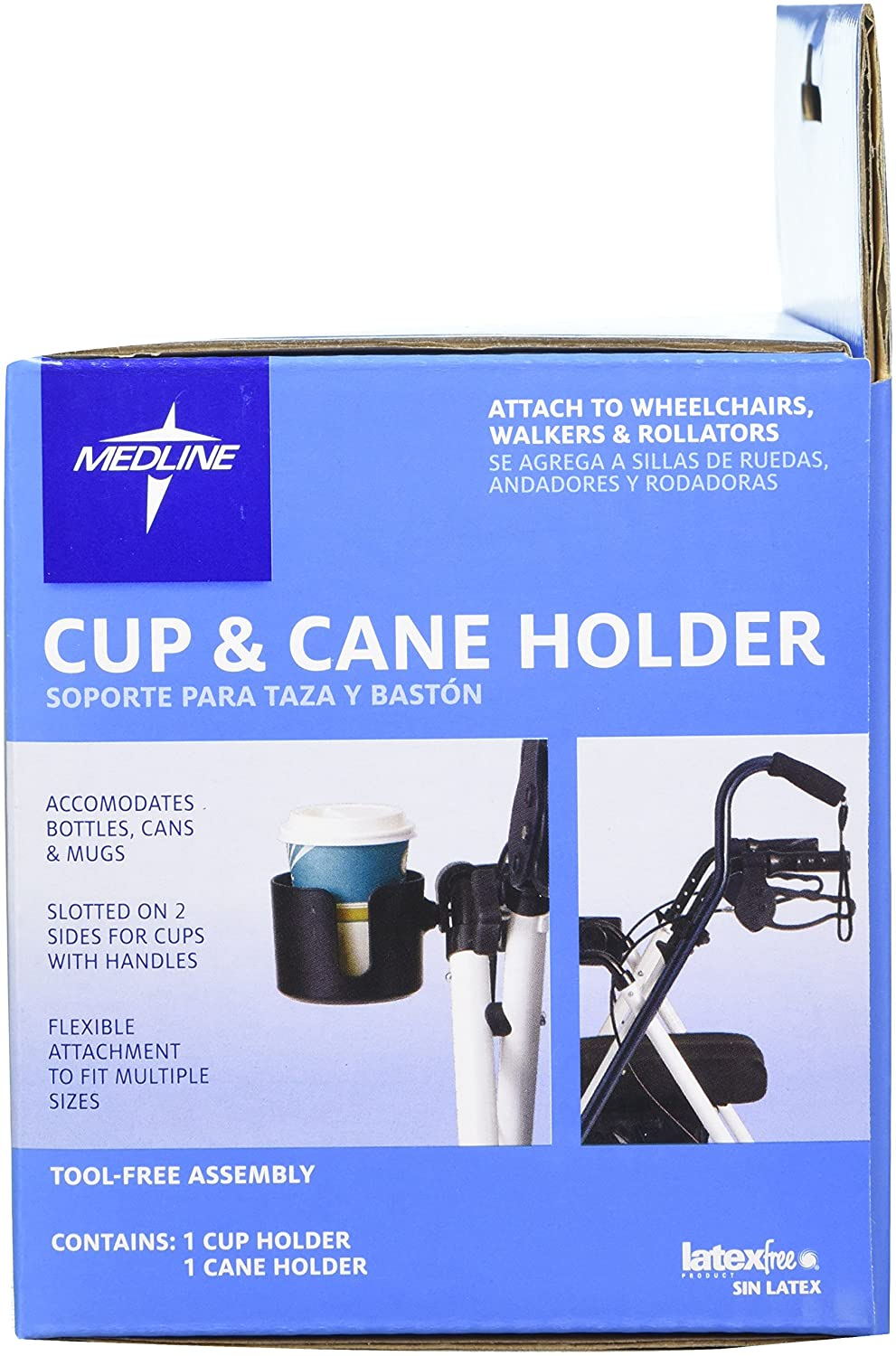 Amazon.com: Medline MDSCUPCANEHW Walker Cup and Cane Holder (Pack of 6): Health & Personal Care