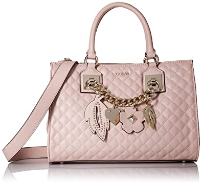 349a3a7f02ca GUESS Stassie Pink Society Satchel, Cameo  Amazon.co.uk  Shoes   Bags