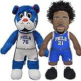 "Bleacher Creatures Philadelphia 76ers Dynamic Duo: Franklin & Joel Embiid 10"" Plush Figures"