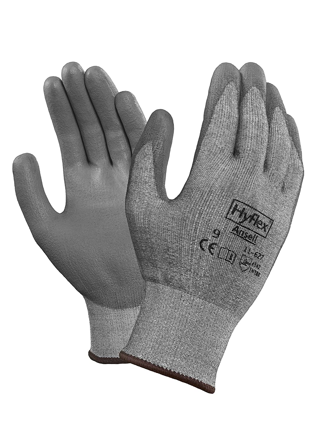 0.33 Height Gray 5 Width 8 Length Ansell 116276 HyFlex 11-627 Coated Dipped Dyneema HPPE and Lycra Lined Gloves Size 6 Pack of 12