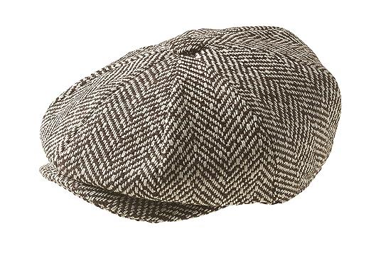 17997246 Peaky Blinders 'Newsboy' Style Flat Cap Style, Brown Humbug (L ...