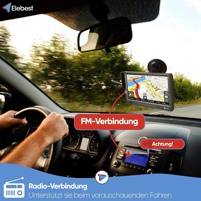 Elebest 90 Navigationsgerät Windows Großes 9 Zoll 22 8 Cm Display Touchscreen Pkw Lkw Wohnmobil Bus Eu Karten Radarwarner Bluetooth Kostenlose Kartenupdate Starker Akku Navigation