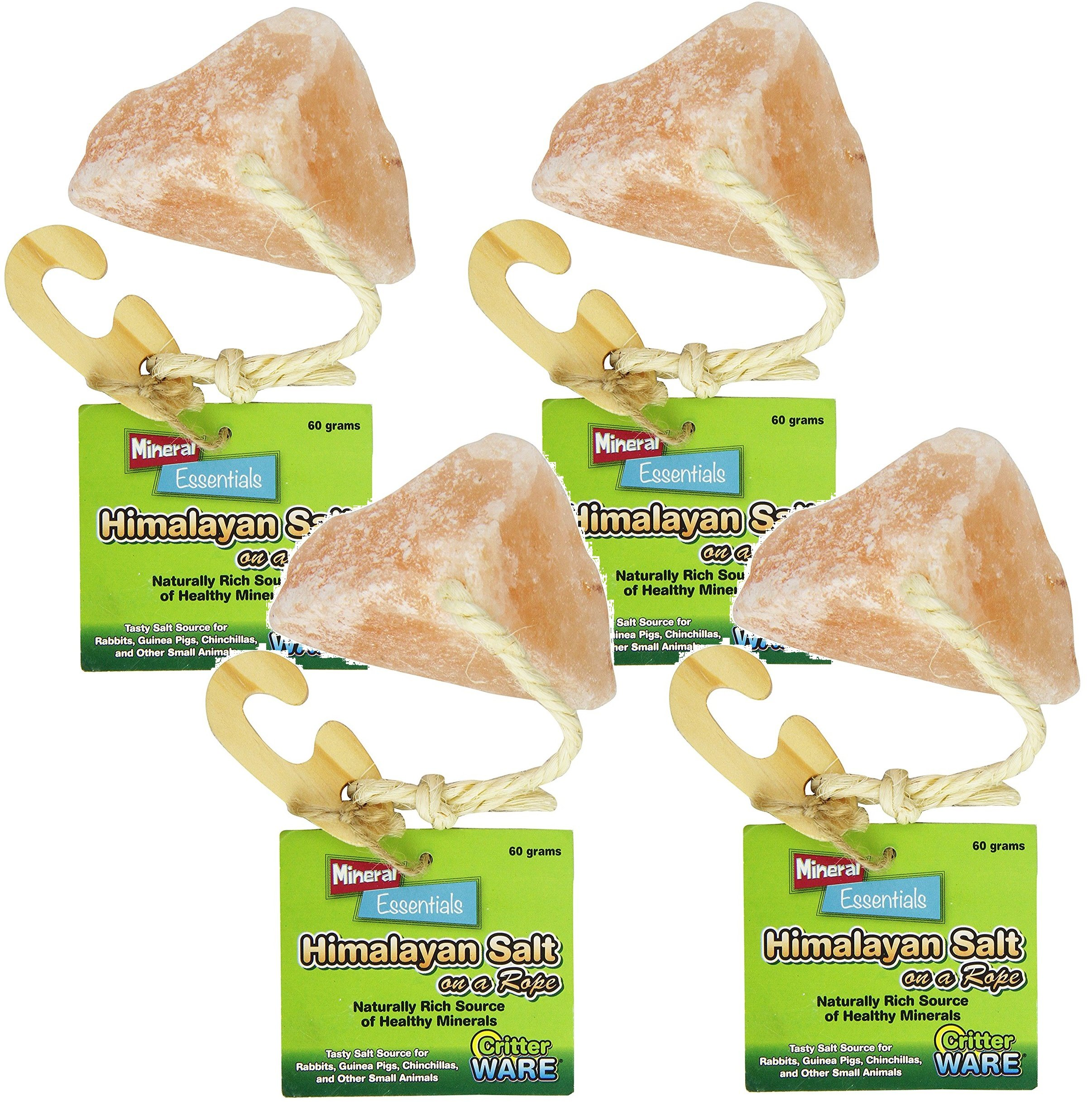 (4 Pack) Ware Manufacturing Himalayan Salt on a Rope Small Pet Chew Treats