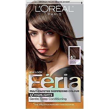 Amazon.com : L\'Oréal Paris Feria Permanent Hair Color, 40 Espresso ...