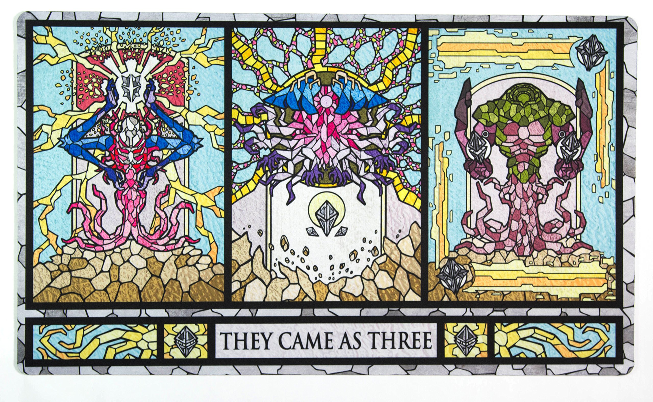 Inked Playmats Stained Glass Titans Playmat Inked Gaming TCG Game Mat for Cards by Inked Playmats (Image #1)