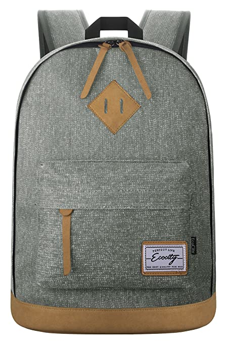 212 opinioni per EcoCity- Zaino in tela classico ideale per scuola o computer, grigio