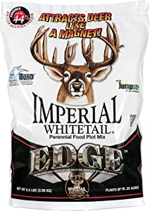 Whitetail Institute Edge Deer Food Plot Seed, Perennial Blend of Deer-Attracting, Nutritious Forages with Antler-Building Protein, Heat, Cold and Drought Tolerant, 26 lbs (1 Acre)