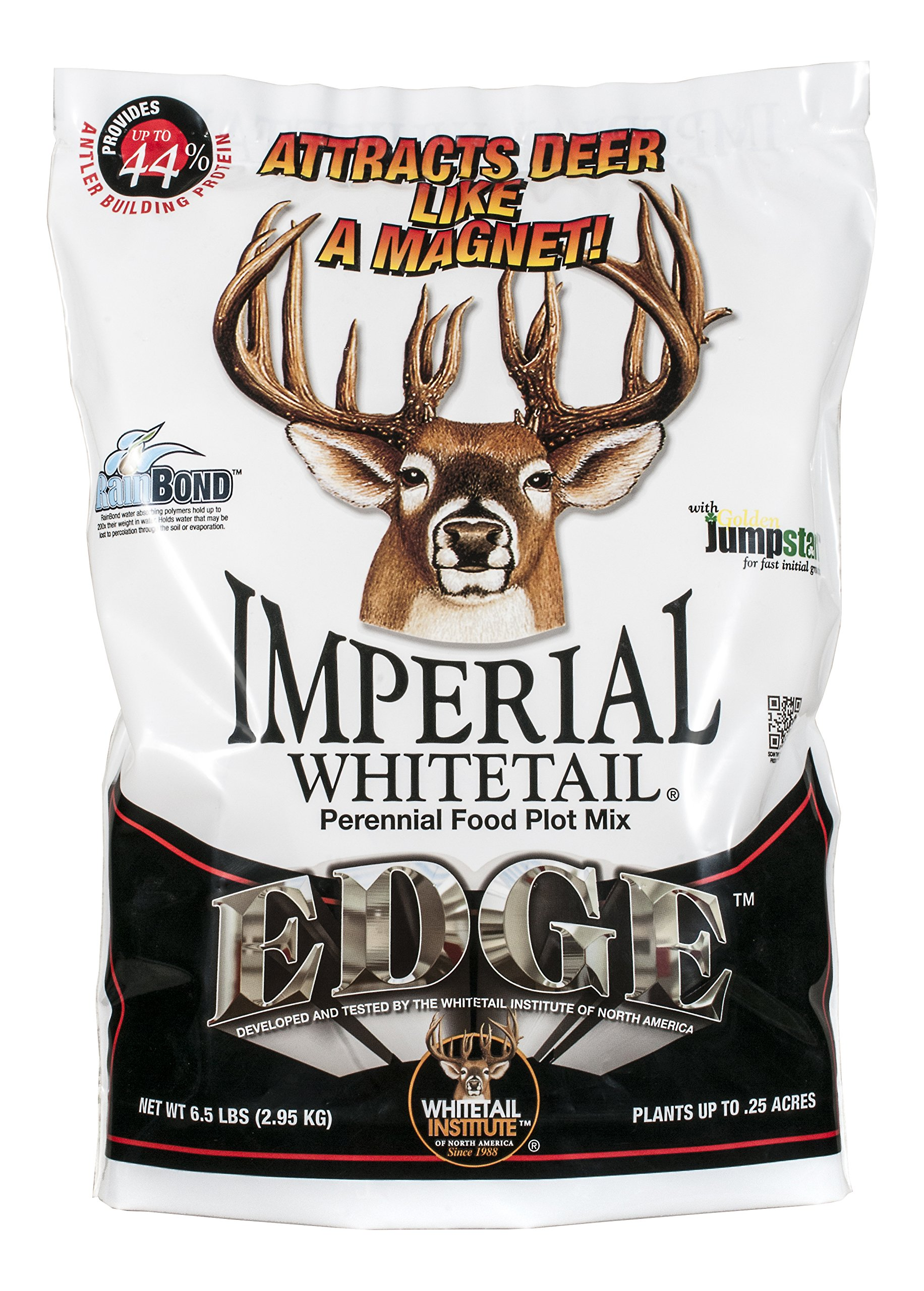 Whitetail Institute Imperial Edge Food Plot Seed (Spring and Fall Planting), 26-Pound (1 Acre) by Whitetail Institute