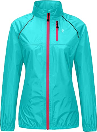 Little Donkey Andy Women's Lightweight Waterproof Cycling Running Rain Jacket, Packable Windbreaker Fall Jacket