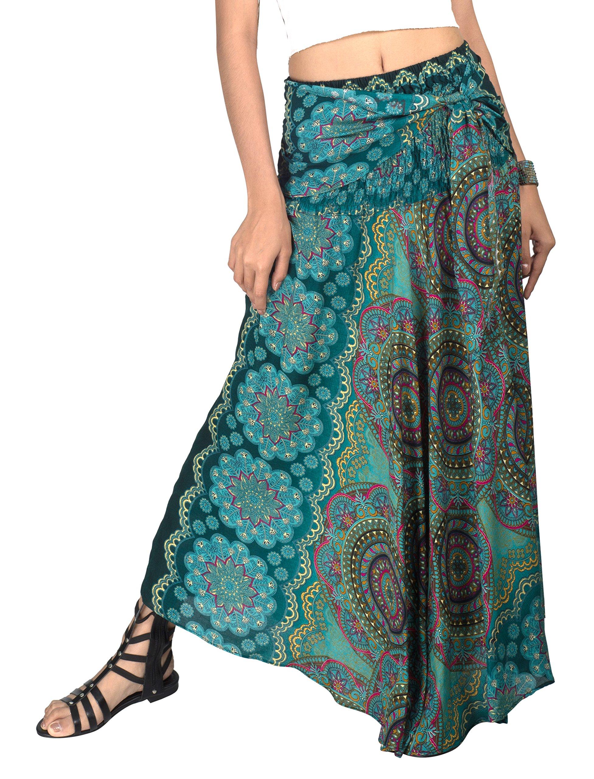 Joop Joop Versatile 2 in 1 Maxi Dress Bohemian Loose Flowing Summer Travel Beach Festival Lounge Dress and Skirt