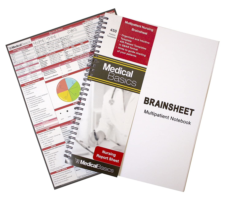 Amazon.com : Nursing Brain Sheet Multiple Patient Notebook - Nurse and CNA  Report Sheet - 3 Patients per Template : Office Products