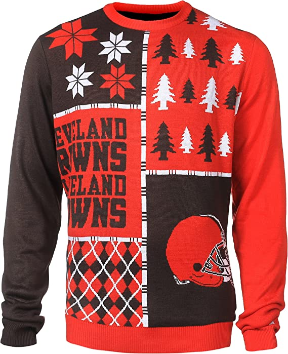 NFL Cleveland Browns BUSY BLOCK Ugly Sweater