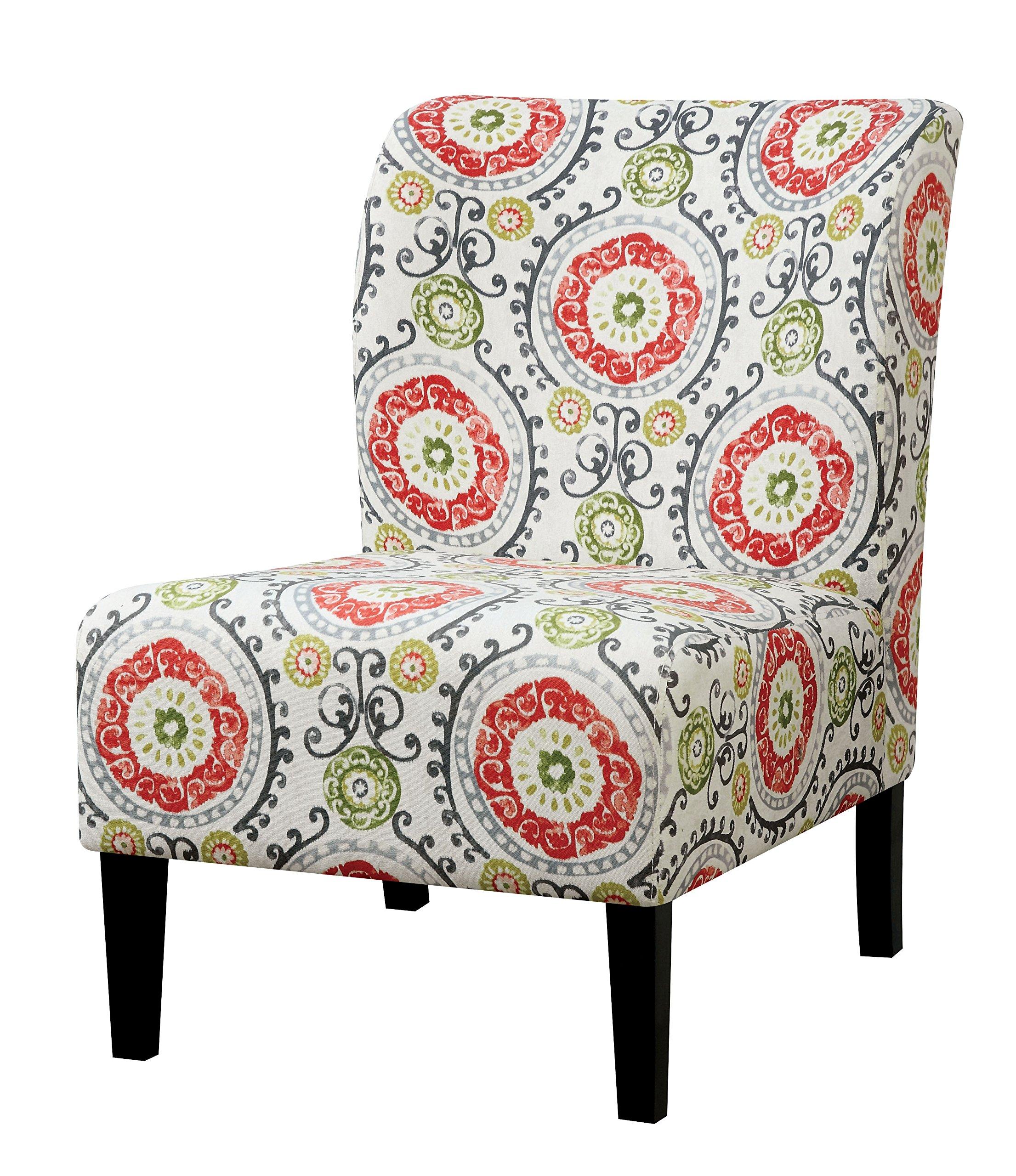 HOMES: Inside + Out IDF-AC6507R Logan Armless Living Room Chair, Orange