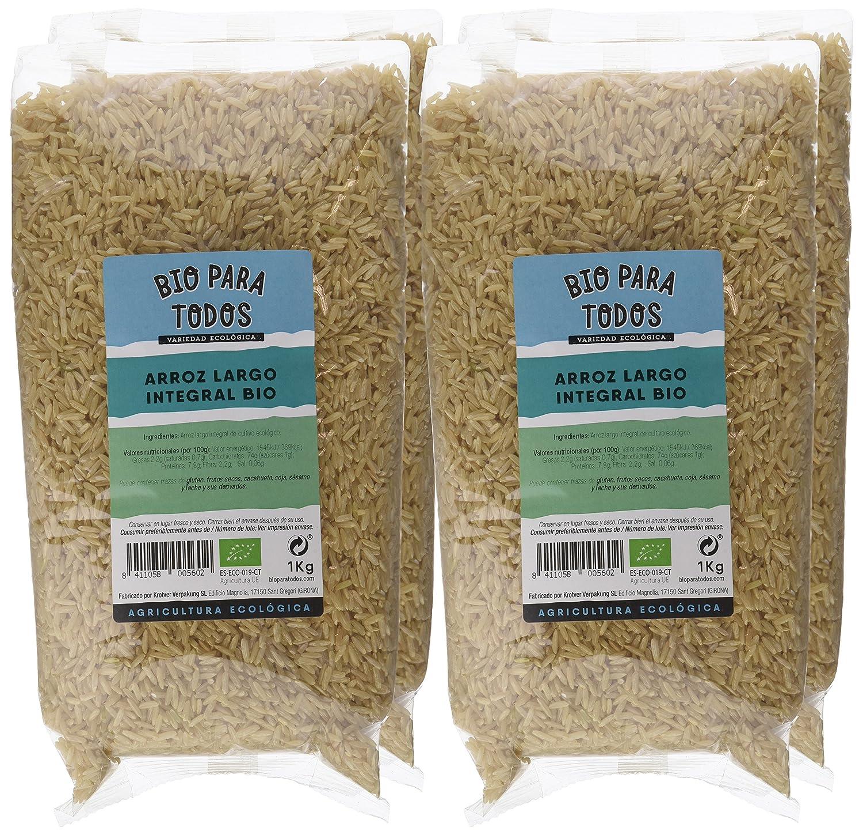 Bio para todos Arroz Largo Integral - 4 Paquetes de 1000 gr - Total: 4000 gr: Amazon.es: Alimentación y bebidas