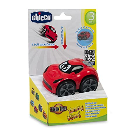 Chicco - Coche Turbo Touch Stunt Car, Tommy Race, Color Rojo