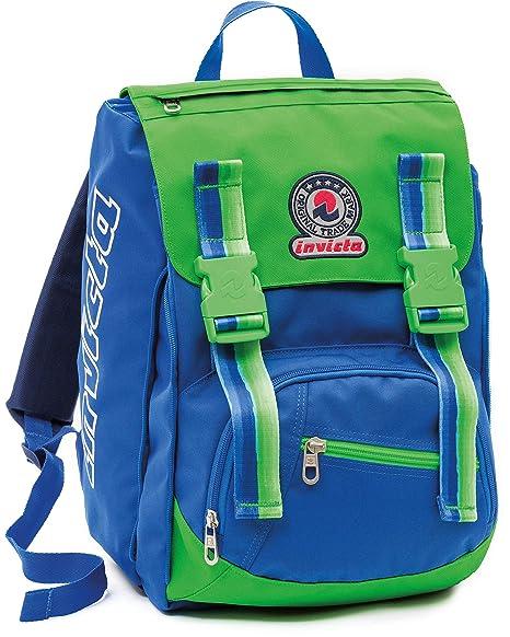 666d55338f Zaino scuola sdoppiabile Big - INVICTA GAPE - estensibile 28 LT - Verde  Blue - elementari