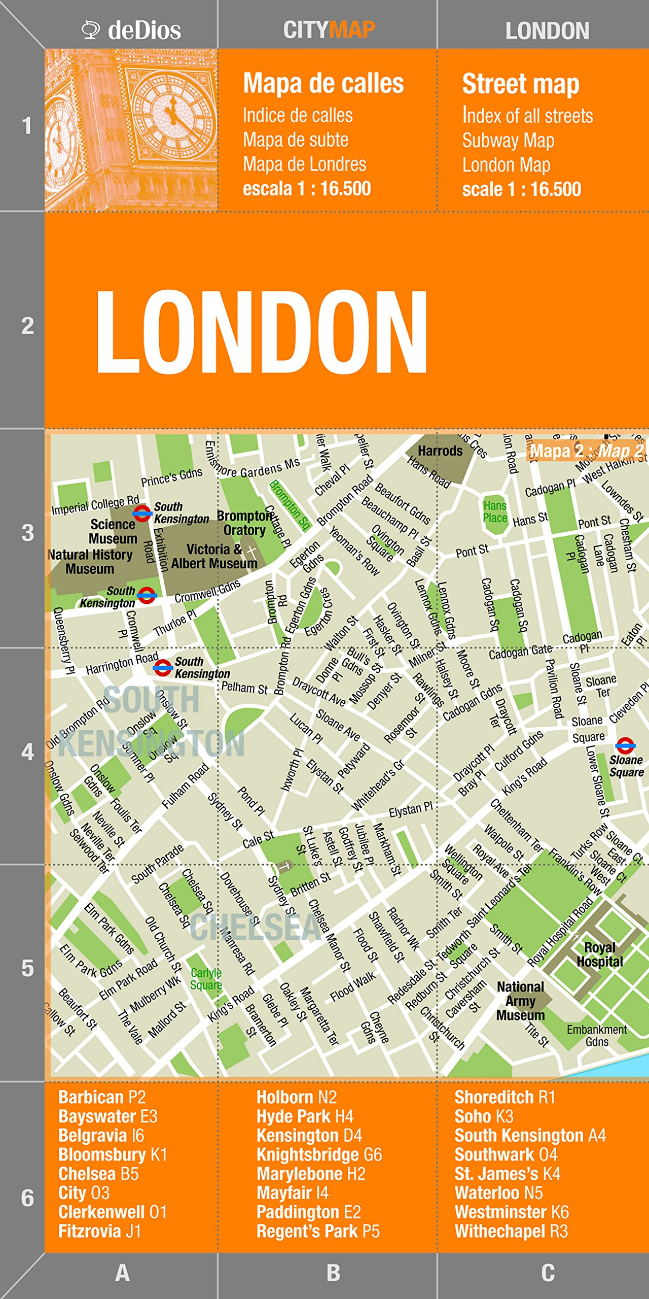 London City Center Map By Dedios City Map Spanish And English