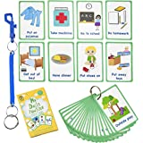 My Daily Routine Cards 27 Flash Cards for Visual aid Special Ed, Speech Delay Non Verbal Children and Adults with Autism or S