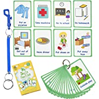 My Daily Routine Cards 27 Flash Cards for Visual aid Special Ed, Speech Delay Non Verbal Children and Adults with Autism…