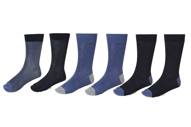 Kenneth Cole New York Men's Flat Knit Crew Socks (Pack of 6) Kenneth Cole New York Socks RHK019MAC