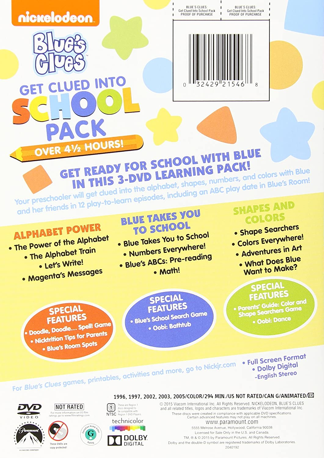 amazon com blue u0027s clues learning pack artist not provided
