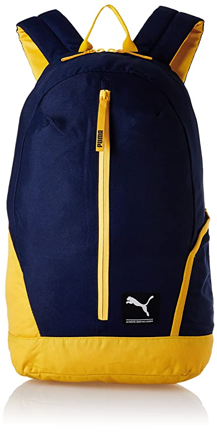 7b2250b6cab0 Puma 26 Ltrs Navy-Orange Casual Backpack (7511702)  Amazon.in  Bags ...