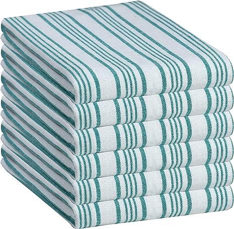 6 Piece 100/% Cotton Kitchen Tea Towel Set Classic Pattern Style