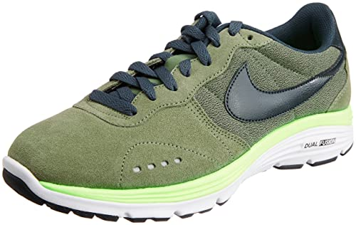 best loved a7ad3 e5db2 Nike Men s Dual Fusion Retro Iron Green, Seaweed, Volt, White Leather  Running Shoes -10 UK India (45 EU)(11 US)  Buy Online at Low Prices in  India - Amazon. ...