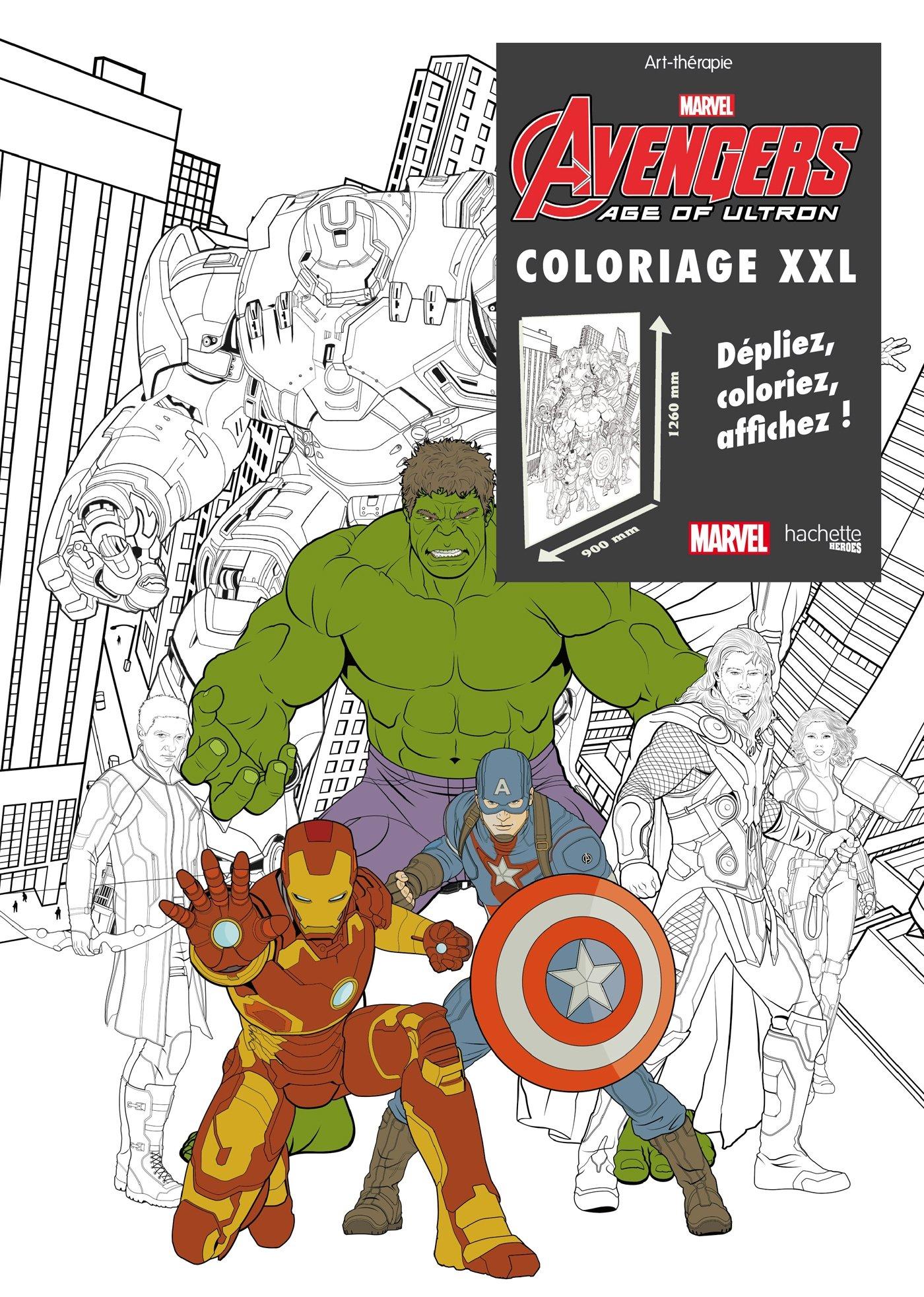 coloriage xxl avengers age of ultron amazoncouk marvel 9782011461148 books