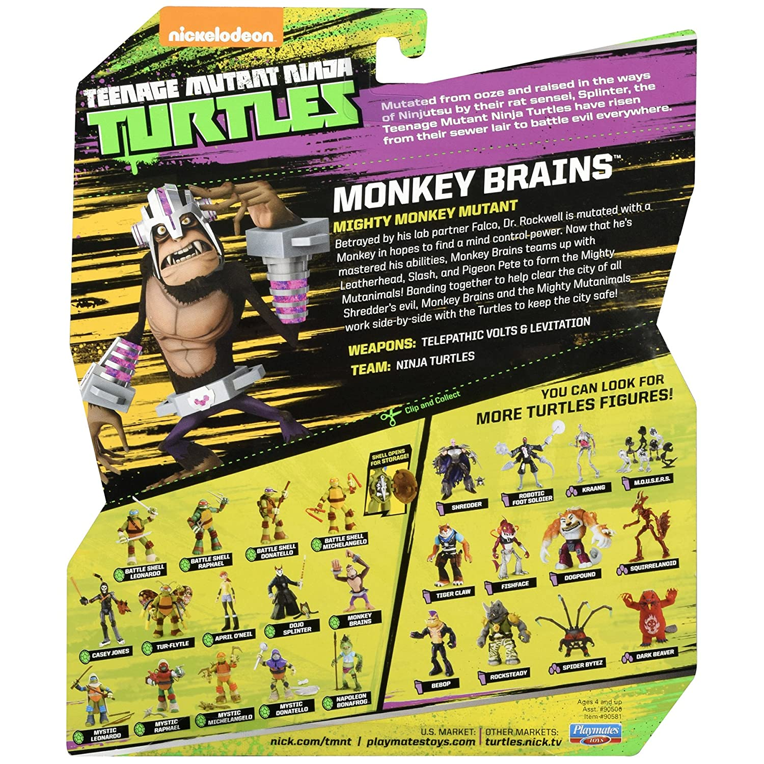 Nickelodeon TMNT Tortugas Ninja - Monkey Brains: Amazon.es: Juguetes y juegos