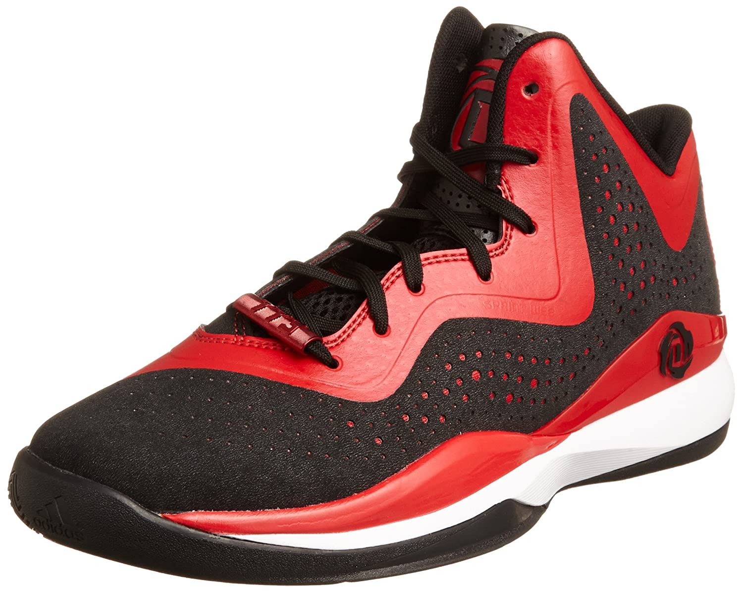 adidas Performance DERRICK ROSE 773 II Black Red Men Basketball Shoes  Sprintframe