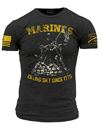 592dd28d444 Amazon.com  Grunt Style Men s Marines Branch T-Shirt  Clothing