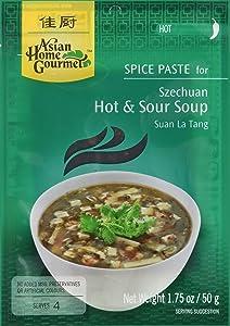 Asian Home Gourmet Spice Paste for Soup: Szechuan Hot & Sour Soup (Suan La Tang) (1 x 1.75 OZ)