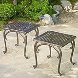 Hyde Outdoor Cast Aluminium Accent Table (Set of 2)