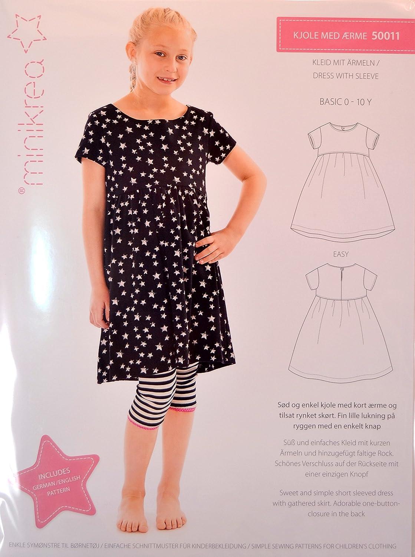 Schnittmuster Kleid mit Ärmeln für Kinder / Gr. 56-146cm / 5x0011 ...