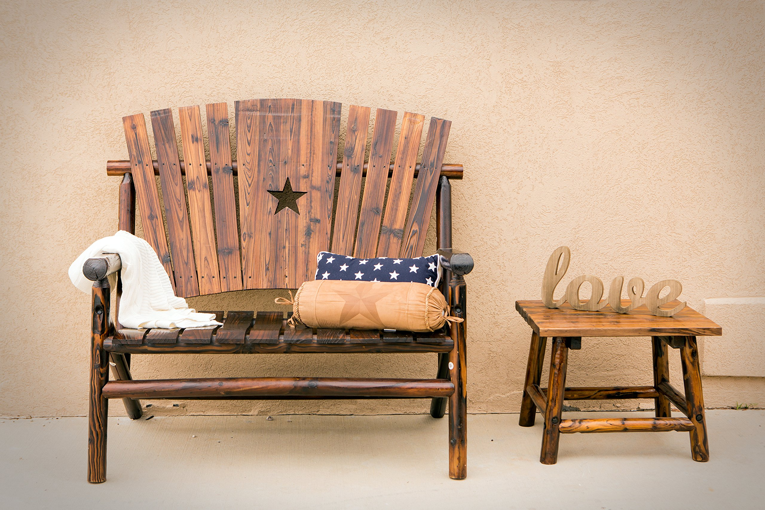 Leigh Country Double Bench with Star