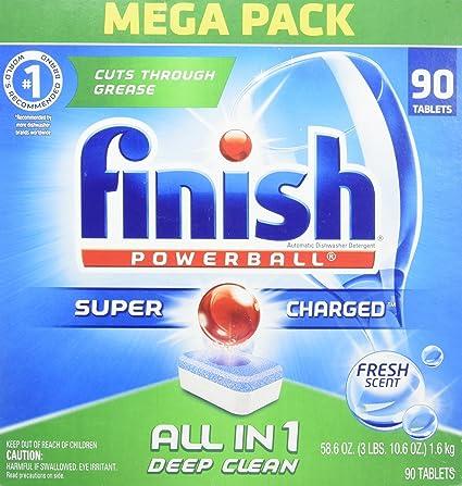 Amazon.com: Finish All in 1 Powerball, detergente automático ...