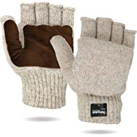 Illinois Glove Company 360 Rag Wool Glomitt Flip Mitten 3M Thinsulate Lined Tan