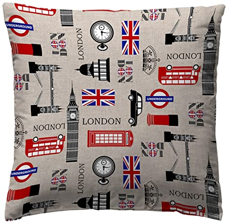 Amazon.com: Martina Home COJIN Covers England 40 x 40 cm ...