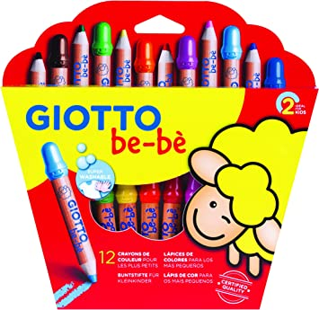 GIOTTO be-bè- Pack de 12 lápices de Colores (Fila 469700): Amazon ...