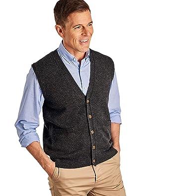 3475b8ea03458 Wool Overs Gilet - Homme - Laine d agneau  Amazon.fr  Vêtements et ...
