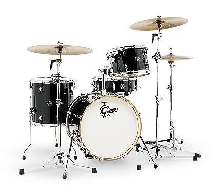 1fdb39ba752 Amazon.com: Gretsch Catalina Club 4pc Drum Kit Piano Black: Musical  Instruments