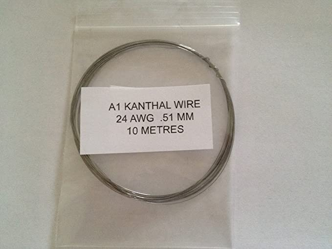 Kanthal A1 Widerstandsdraht, 0,51 mm/24 AWG, 10 Meter, für RBA-/RBD ...