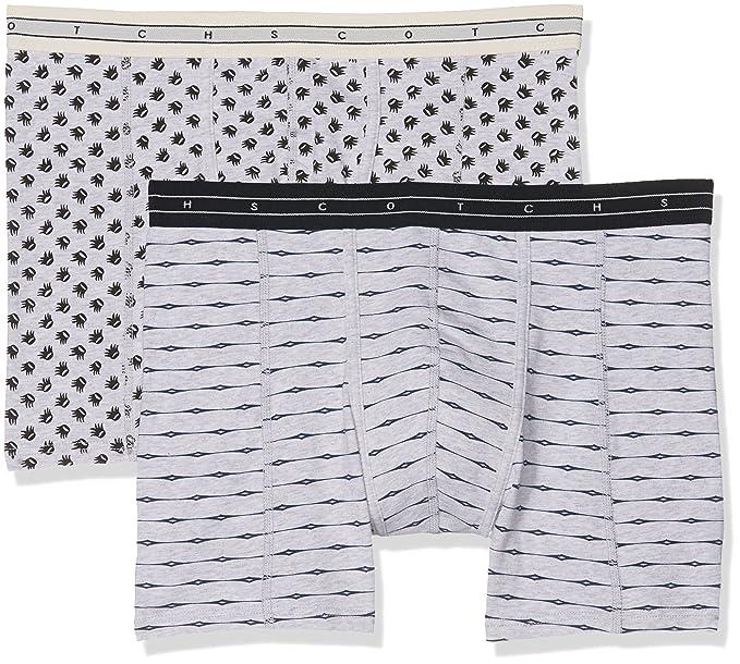 Grey Shorts, Bóxer para Hombre (Pack de 2), Multicolor (Combo A 0217), Small Scotch & Soda