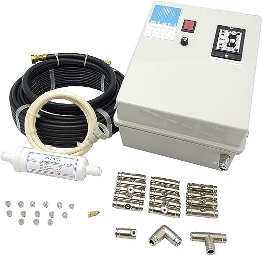 S&M 581502 - Kit nebulización, Alta presión, con Bomba, 12 boquillas: Amazon.es: Jardín