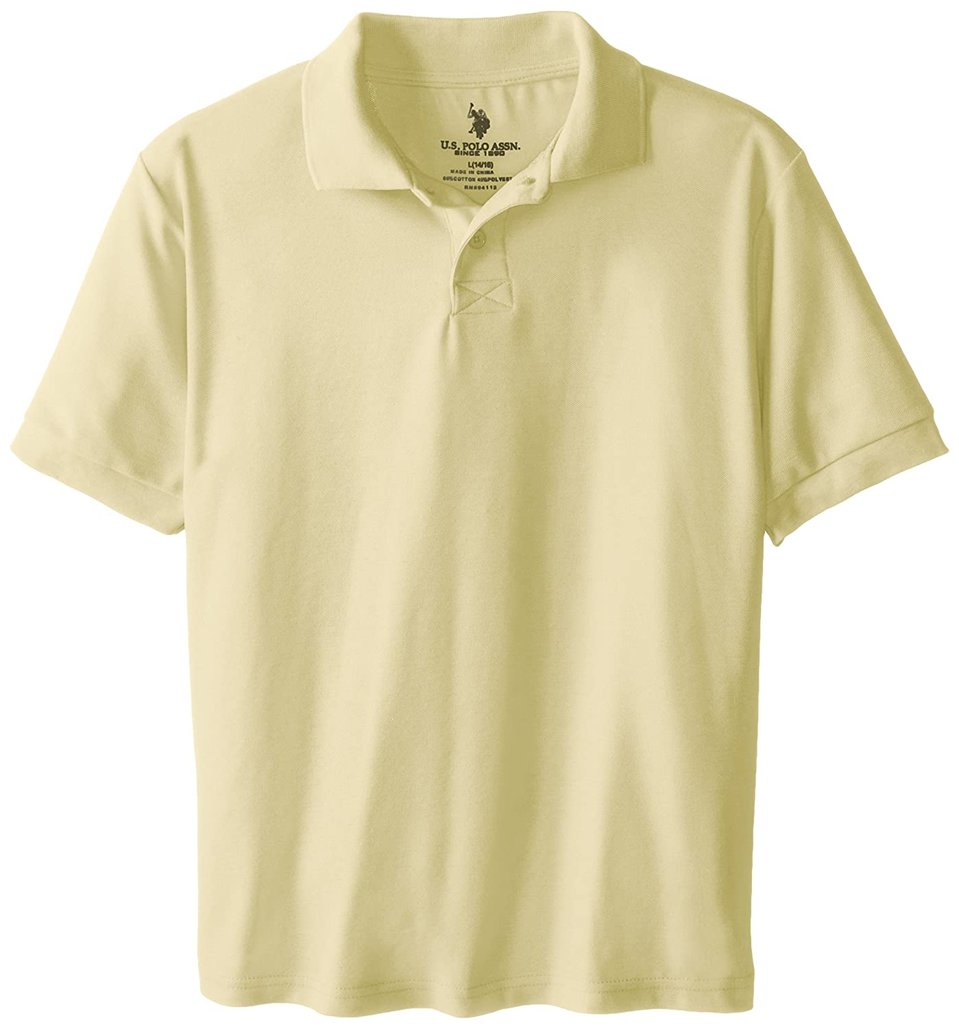 U.S. Polo Association Big Boys' School Uniform Short-Sleeve Pique Polo Shirt T76617