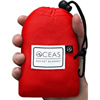 Oceas Waterproof Pocket Blanket Portable and Compact - Perfect for Camping, Outdoor, Beach, and Festival Use…