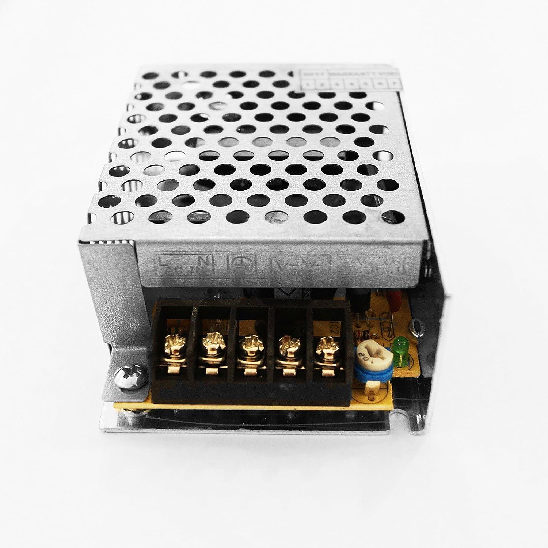 luces/ì/ /Transformador Fuente de alimentaci/ón 12/V para Tira LED c/ámaras Videovigilancia c/ámaras DVR estabilizado Switch Recortadora aluminio dise/ño de Italia