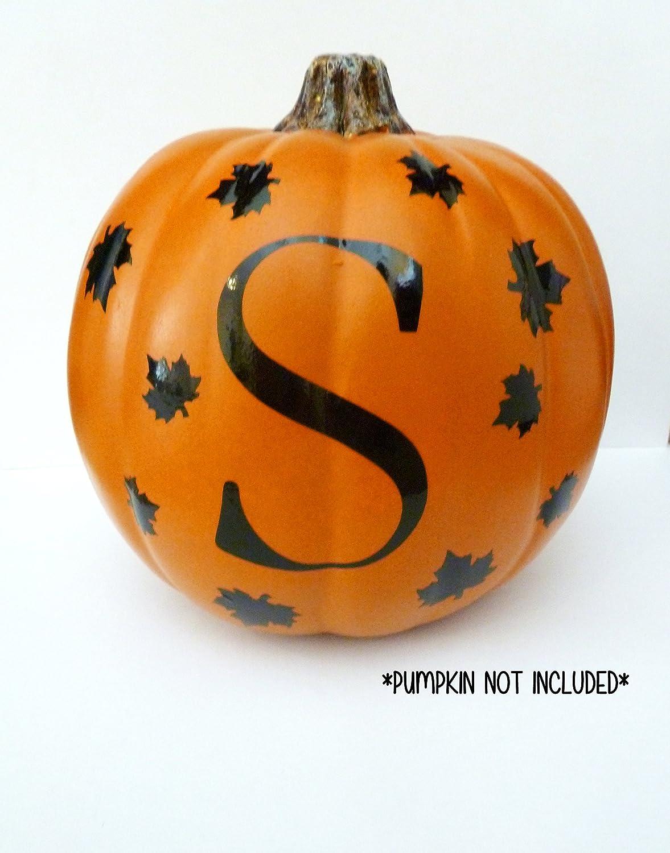 Personalized Pumpkin Decal, Monogram Pumpkin Decal, Halloween Vinyl Decal,Halloween Pumpkin Decal,Halloween Decor, Pumpkin Sticker, Fall Decor, VINYL ONLY