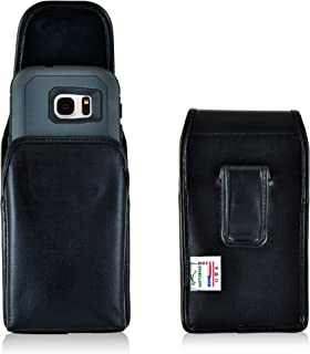product image for Turtleback Holster Made for Samsung Galaxy S7 with OB Defender Case Black Vertical Belt Case Leather Pouch with Executive Belt Clip Made in USA